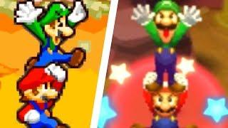 Mario & Luigi: Superstar Saga 3DS - All Bros. Attacks Comparison (3DS vs Original)