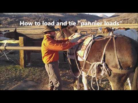 Colorado Outfitters - Saddling Pack Stock and Basic Packing Skills