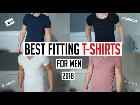 BEST FITTING T-SHIRTS FOR MEN IN 2018 (Asos, Zara, Reiss, Alphalete)