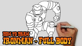 How To Draw Ironman Full Body Video Lesson