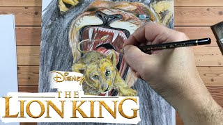 The Lion King 2019 Drawing with Colored Pencils