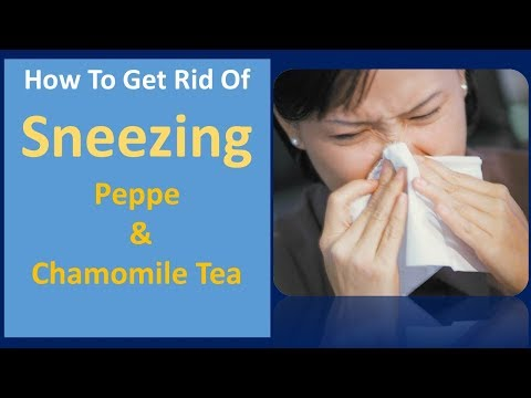 how to get rid of sneezing | Pepper & Chamomile Tea
