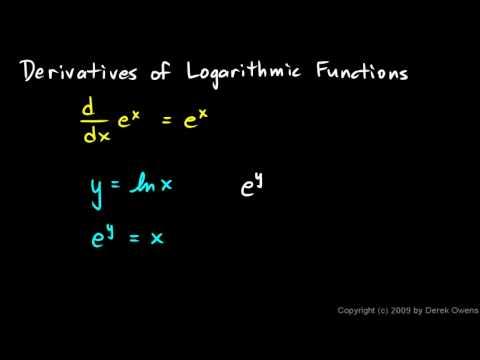 Calculus 6.3a - Derivatives of Natural Logarithms