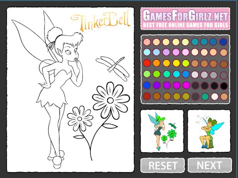 Tinkerbell Coloring Pages For Kids - Tinkerbell Coloring Pages Games