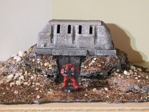 Miniature Terrain Tutorial: Warhammer 40k Bunker part 1