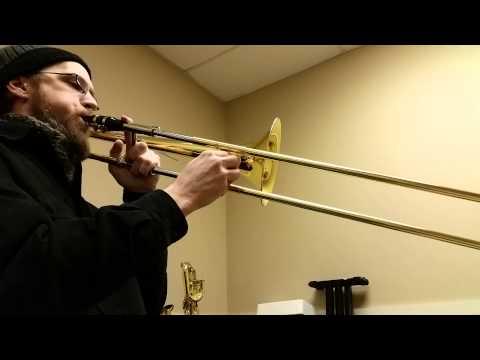 Sax mouthpiece on a trombone