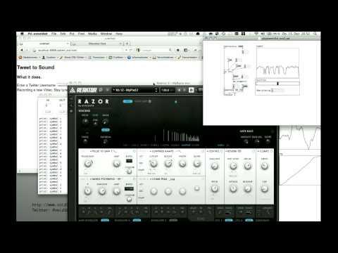 Tweet 2 Sound - new Version + Google Map Data 2 MIDI CC