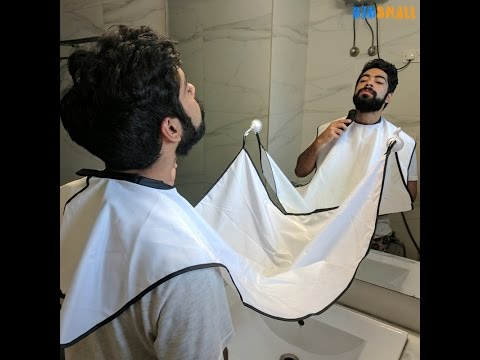 Beard Bib - How to use the suction cups/hooks