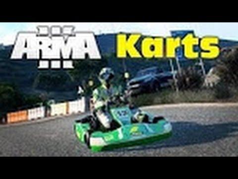 Arma 3: Go Karts DLC! Race Track/Drag Driving! HD