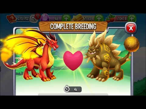 Flame Dragon vs Terra Dragon | Dragon City [RARE BREEDING DRAGON]