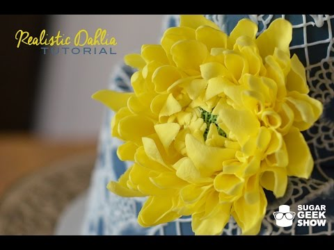 How to make a gumpaste dahlia flower