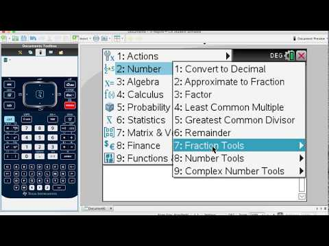 How to Convert Improper Fraction to Mixed Number with TI Nspire CX?
