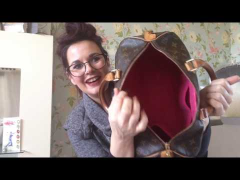 Unboxing number 2 of a fabulous papillonkia handbag liner for my Louis Vuitton speedy 35 wow