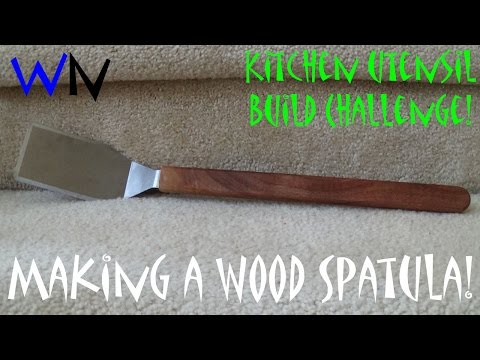 How to Make a Wood Spatula   Kitchen Utensil Build Challenge!