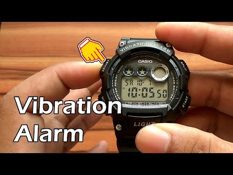 How to Settings + Review Casio W-735H-1AVDF Vibration Alarm Watch