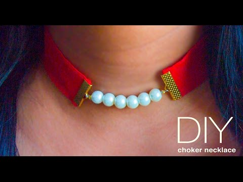 How to make a choker necklace | DIY pearl choker | Beads art