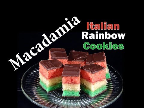 Macadamia Italian Rainbow Cookies -with yoyomax12