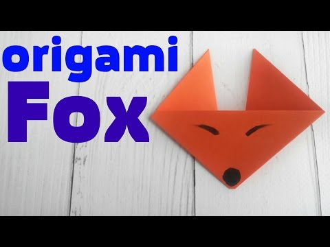 Origami fox face easy tutorial 3d instructions. Origami diagrams for children, for beginners