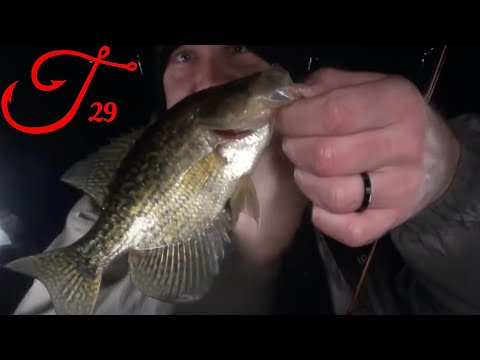 Ice Fishing in the Rain for Crappie