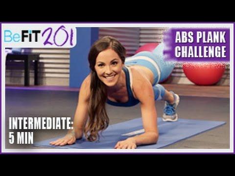 BeFiT 201: 5 min Abs Plank Challenge | Intermediate- Courtney Prather