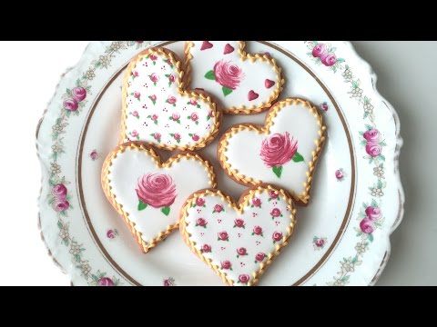 How To Decorate Rose Cookies For Valentine's Day!