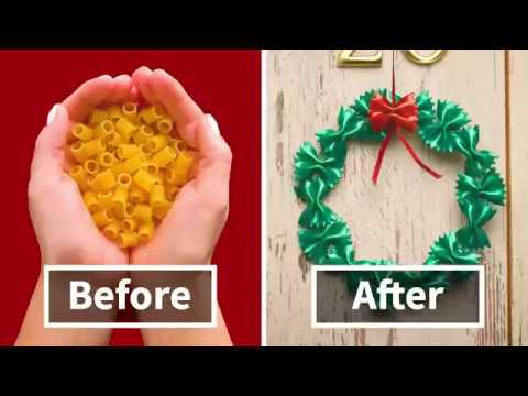 7 Amazing DIY Christmas Decorations Made From Pasta By Crafty Panda