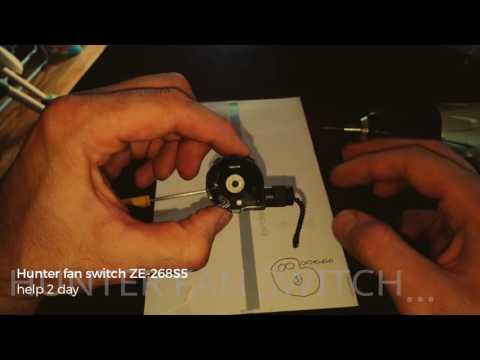 Hunter fan switch ZE-268S5, 4 speed switch