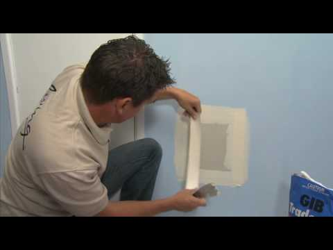 Repairing Large Holes in your plasterboard walls with GIB Living