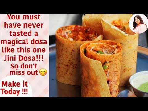 How to make Jini Dosa at home, Jini dosa Recipe, Famous Bombay Street Style Dosa,