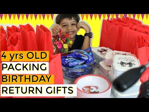 4 Year Old Vlogger Kid Packing Birthday Party Return Gifts | Ranveer Singh