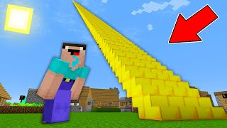 Minecraft NOOB vs PRO: NOOB FOUND THE LONGEST GOLDEN STAIRCASE IN THE VILLAGE!  (Animation)