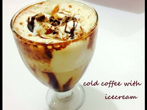 Cold Coffee with Ice Cream and Nuts-Iced Coffee-  Easy and Quick Delicious Cold Coffee Recipe