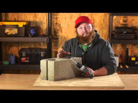 How to Drill Through Cinder Blocks : Nails, Screws & Wall Hangings