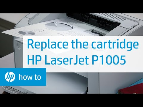 Replacing a Cartridge - HP LaserJet P1005 Printer