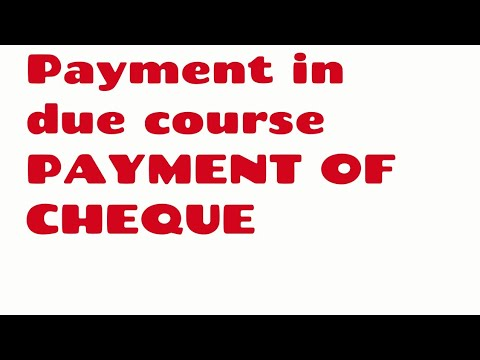 NI ACT 1881 PAYMENT OF CHEQUE AND PAYMENT IN DUE COURSE JAIIB CAIIB BANK PROMOTION VIDEO