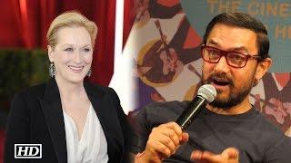 Finally, Aamir Khan REACTS on Meryl Streep's Speech