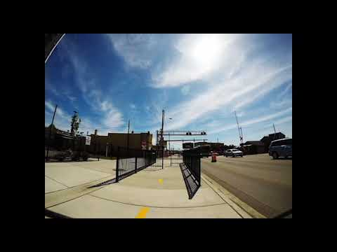Ride across the downtown Kalamazoo River Valley Trail