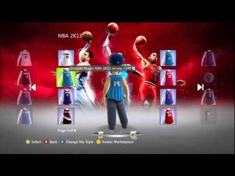 NBA 2K13 Xbox Live Marketplace Avatar Items