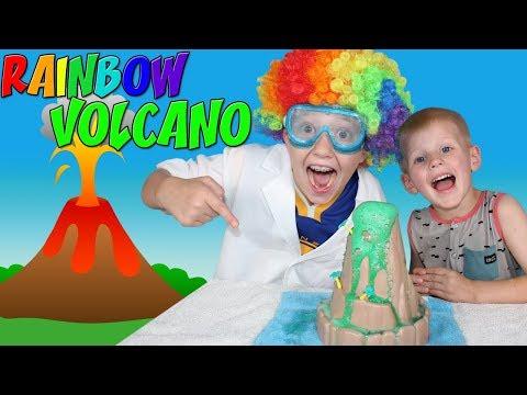 Cool Rainbow Erupting Volcano!