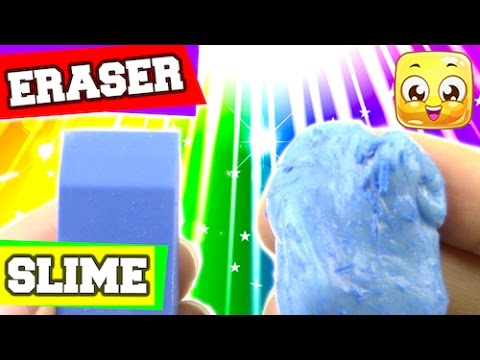 How To Make Eraser Slime DIY Without Cornstarch, Liquid Starch, Borax, or Detergent