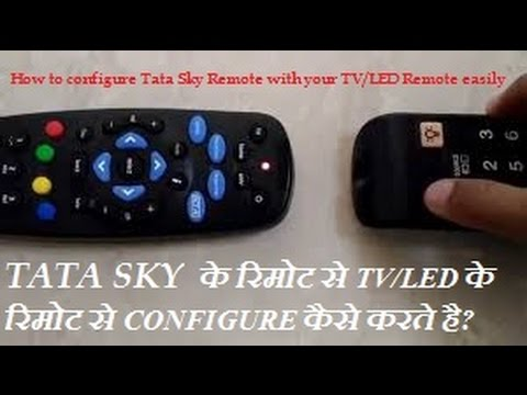 How to configure TATA Sky Universal Remote With your TV/LED remote in Hindi