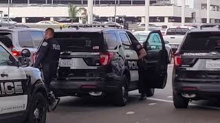 Lax Airport Police Making An Weed Arrest