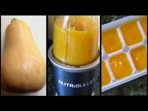 How To Make & Store Homemade Butternut Squash Puree Baby Food!
