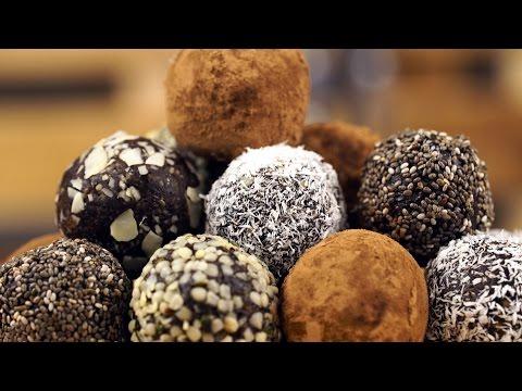 Raw Vegan Chocolate Energy Balls - Dessert Recipe