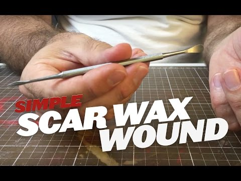 Creating wounds with scar wax Part 1 (Materials) SFX makeup tutorial