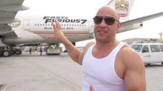 Furious 7: Vin Diesel & The Fast & Furious 777 Airliner Kicks Off World Premiere