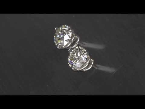 Diamond Stud Earrings .90 Carat