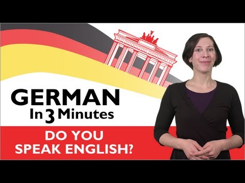 Learn German - German in Three Minutes - Do You Speak English?