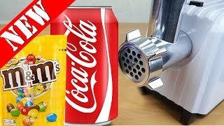EXPERIMENT MEAT GRINDER M&M VS COCA COLA !!! ✈(AMAZING VIDEOS! EXPERIMENT AT HOME)