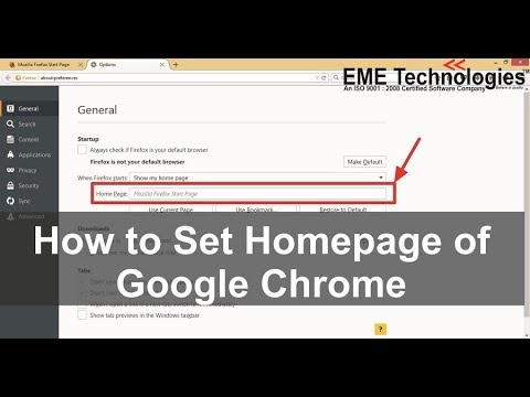 How to Set Homepage of Google Chrome